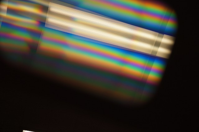 Wow...diffraction of white light is cool!